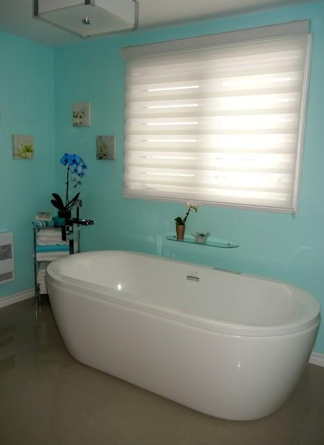 Turquoise Bathroom Contemporary Ottawa