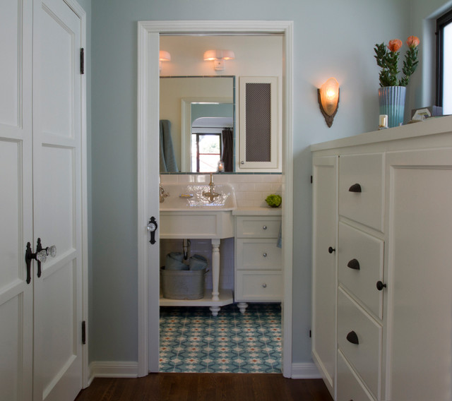 Turquoise Bathroom Spanish Bathroom Contemporary Bathroom Los Angeles By Design Vidal
