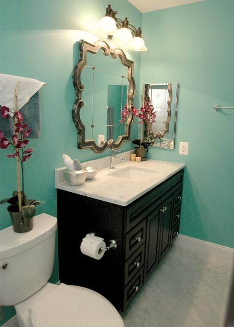 Turquoise guest bathroom eclectic bathroom other for Turquoise blue bathroom accessories