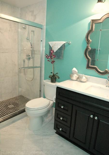 Interior Turquoise Bathroom turquoise guest bathroom eclectic dc metro by rjk bathroom