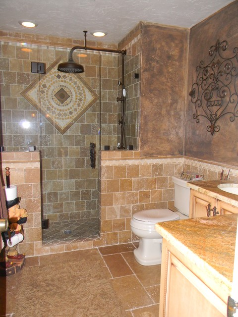 tuscan bath mediterranean bathroom - Tuscan Bathroom Design