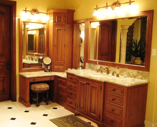 Tuscan bath mediterranean bathroom philadelphia by kevin martin - Master bath vanity design ideas ...