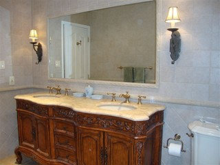 Tuscan Bathroom Update - Mediterranean - Bathroom - New York - by Cheap-Chic Decor