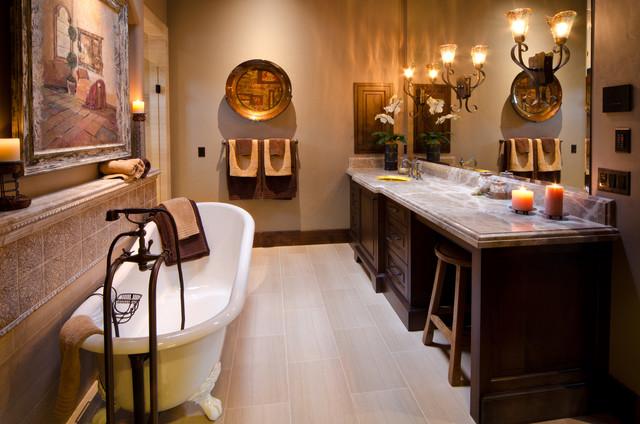 Tuscan in the Pines - Mediterranean - Bathroom - portland - by Homeland Design, llc
