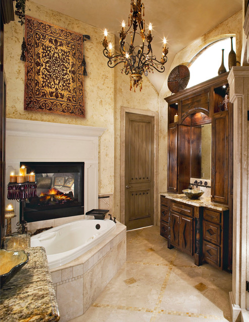 Tuscan Master Bath Traditional Bathroom Dallas By