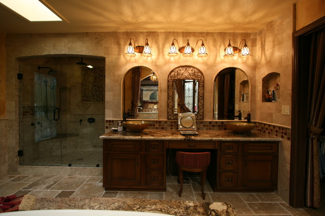 Tuscan master bath traditional bathroom other metro Tuscan style bathroom ideas