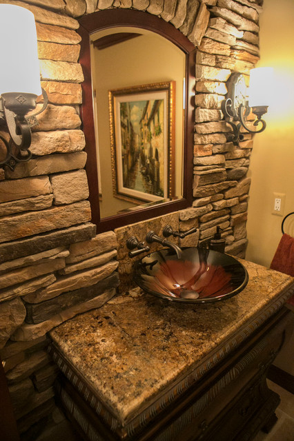 Tuscan Style Traditional Bathroom