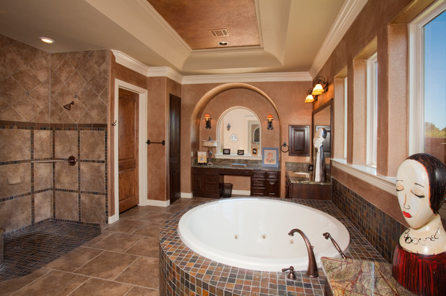 Tuscan style home by jim boles custom homes Tuscan style bathroom ideas