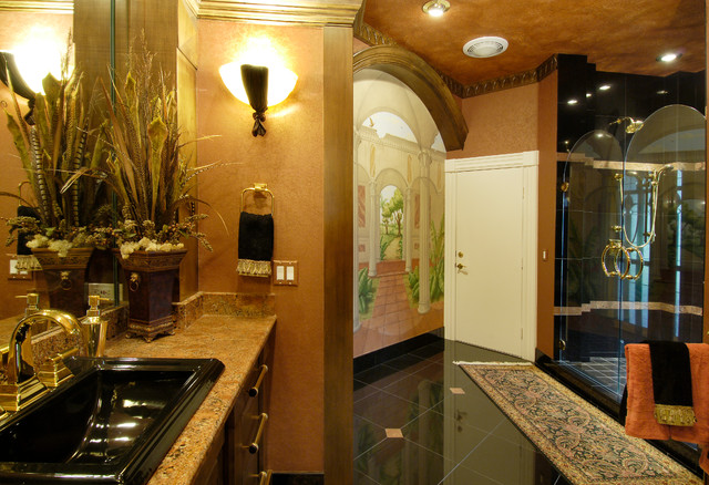 Tuscan Style Home mediterranean-bathroom & Tuscan Style Home - Mediterranean - Bathroom - Tampa - by Decor ... azcodes.com