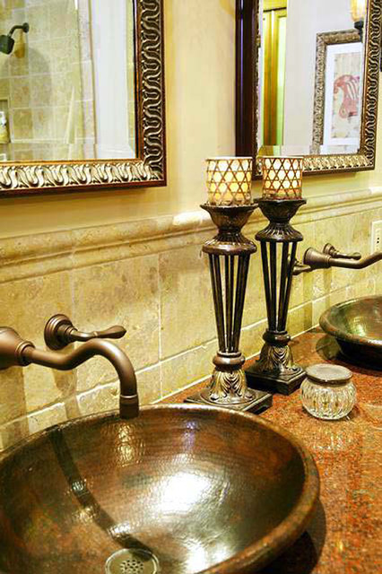 Tuscan style home in del mar mediterranean bathroom for Tuscan style bathroom designs