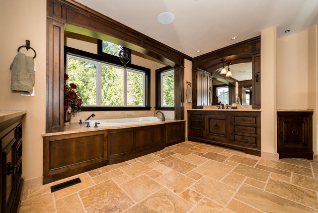 Tuscan Style Master Bathroom Traditional Bathroom Seattle