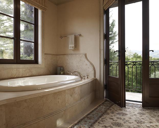 Tuscan Villa mediterranean-bathroom