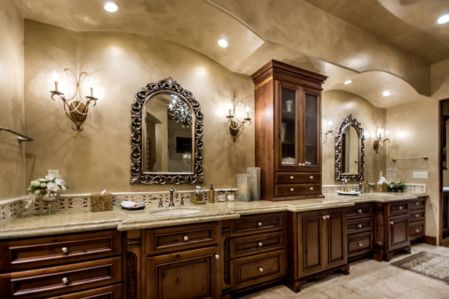 Tuscan Vineyard Estate Mediterranean Bathroom