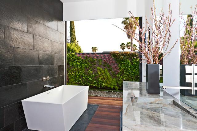 Tuxedo terrace contemporary bathroom other metro for Landscape architects bath