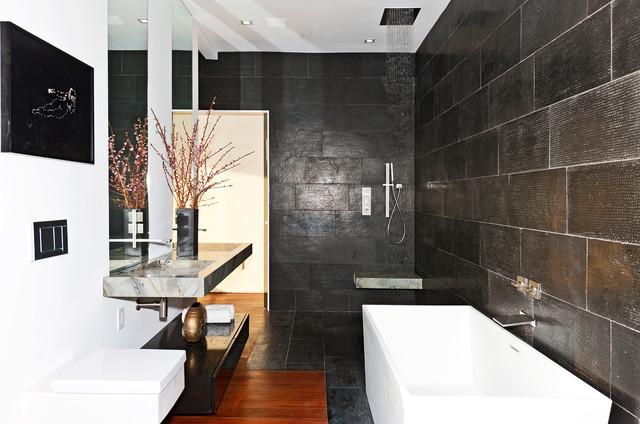 Tuxedo Terrace contemporary-bathroom