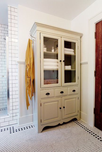 bathroom linen closet. TV Armoir to Linen Cabinet traditional bathroom  Traditional Bathroom Wichita by