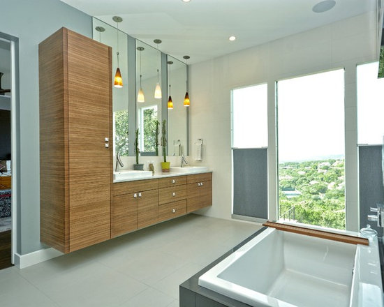 Floating linen cabinet home design ideas pictures for Bathroom cabinets yorkshire