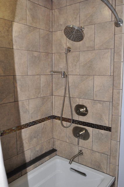 Two baths traditional bathroom boston by design 1 for 10 x 14 bathroom designs