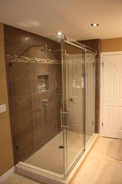 Two Person Custom Shower Contemporary Bathroom