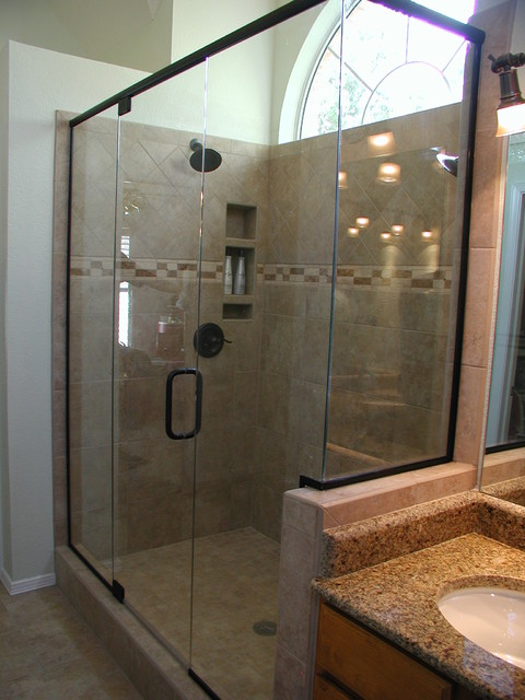 two person shower master bath remodel traditional. Black Bedroom Furniture Sets. Home Design Ideas