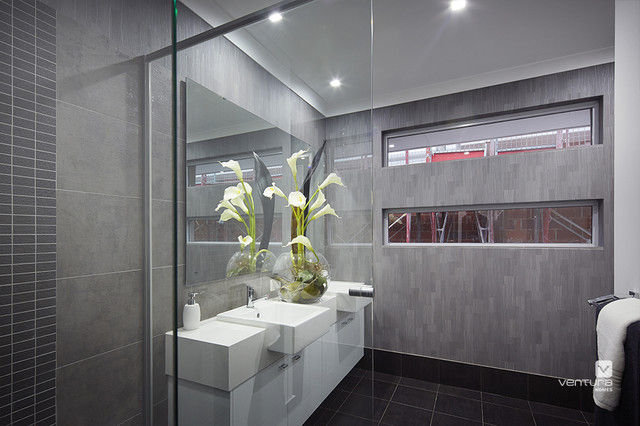 Two storey display homes the monterosso for Bathroom displays