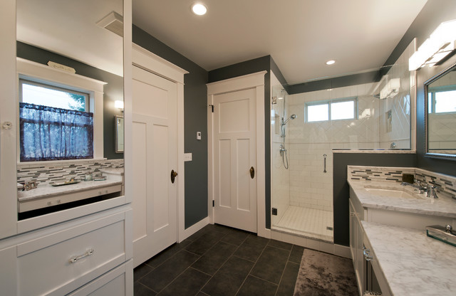 Two Story Addition Craftsman Bathroom Seattle By