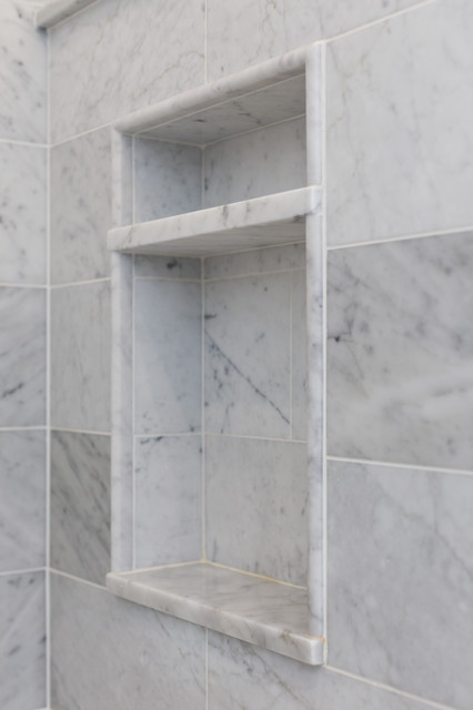 Two Tier Niche Marble Master Bath Chatham Nj