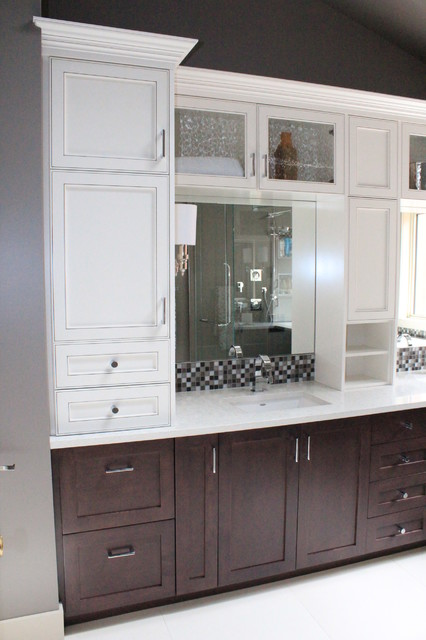 Two-tone bathroom - Traditional - Bathroom - other metro - by Casa Flores Cabinetry