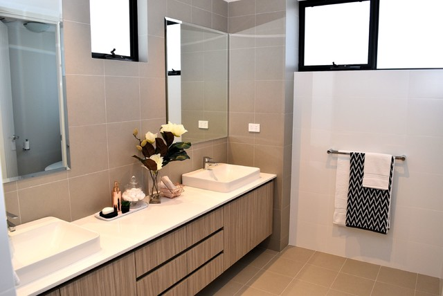 Uber cool sophistication property styling to floreat contemporary bathroom perth by Bathroom design perth uk
