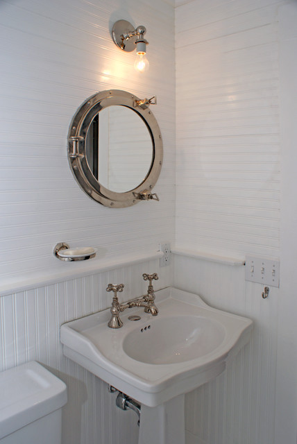 Inspiration for a beach style bathroom remodel in DC Metro