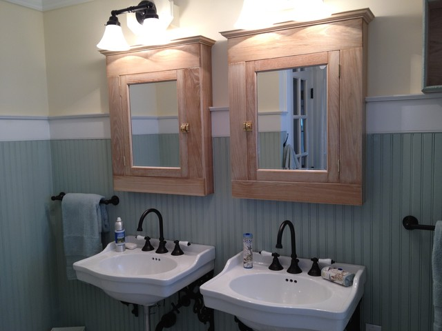Example of a coastal bathroom design in DC Metro