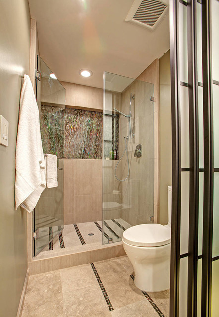 Unfolding Privacy Guest Bathroom contemporary-bathroom