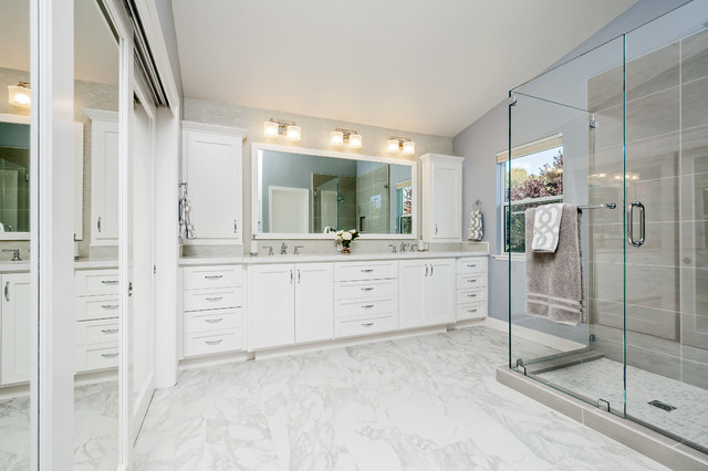 white master bathrooms. Union City Beautiful White Master Bath Transitional-bathroom Bathrooms I