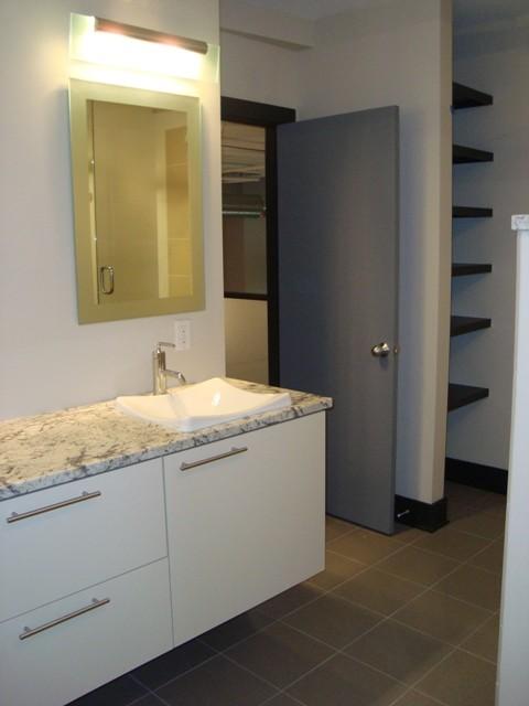 Union square condo contemporary bathroom grand for Bathroom cabinets grand rapids mi
