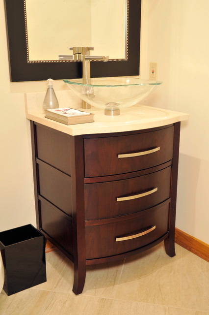 Unique powder room vanity traditional bathroom st for Powder bathroom vanities