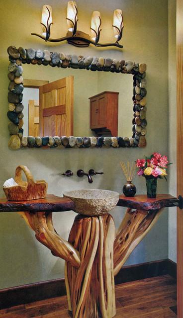 Unique Rustic Pedestal Sink Eclectic Bathroom Grand