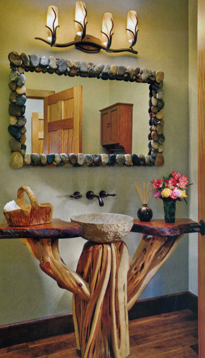Wher can i buy the river rock mirror for Where can i buy bathroom mirrors