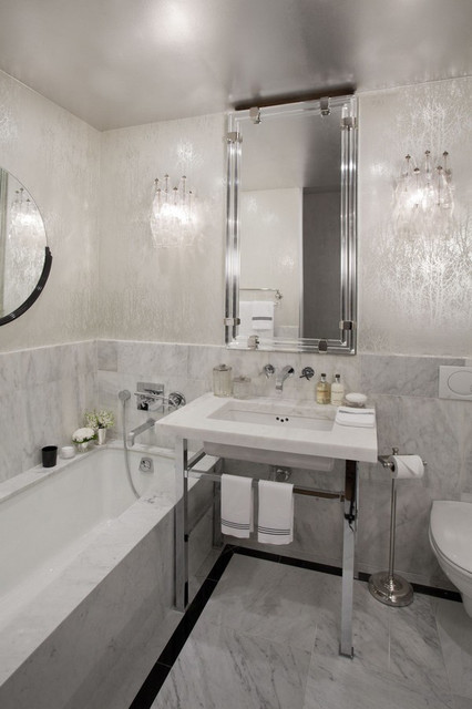 Unique wallpaper ideas apartment new york for Modern bathroom wallpaper