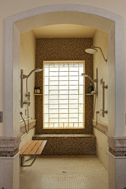 Universal ada walk in or wheelchair accessible shower for Luxury walk in showers