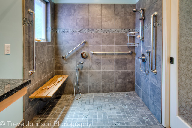 Universal Design In Oakland Traditional Bathroom San Francisco By Treve Johnson Photography