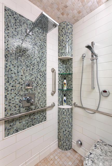 Universal design master bath transitional bathroom for Bath remodel milwaukee