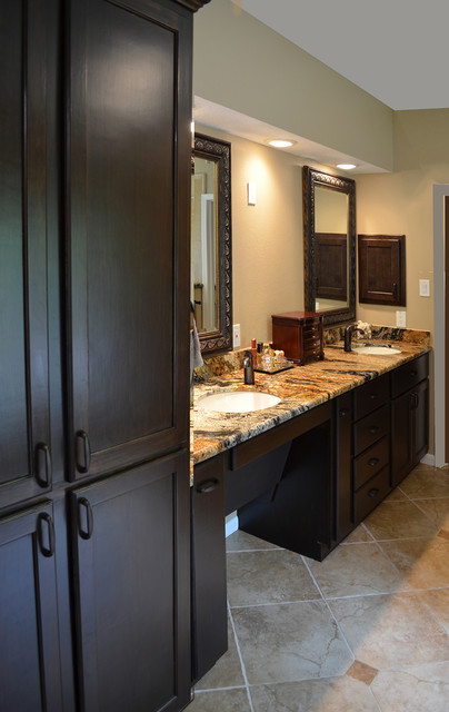 Universal design remodel master bath for accessibility for Bathroom designs houston