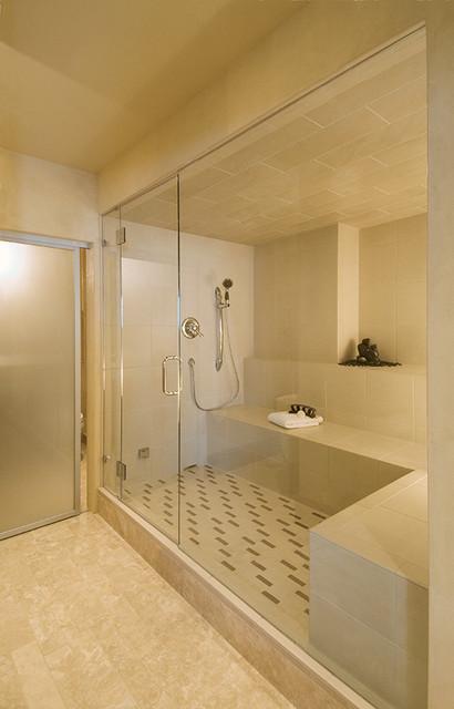 Unused Lower Level Turned Spa! modern-bathroom