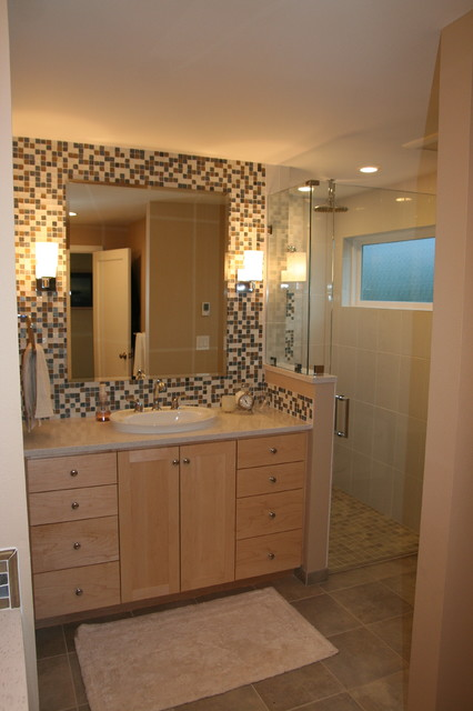 Update of 1940s bath contemporary bathroom