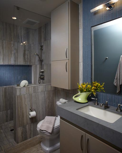 Updated Beach House beach-style-bathroom