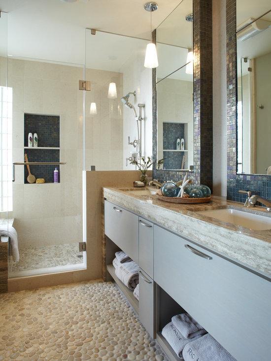 Grey And Beige Tones Bathroom Design Ideas Pictures