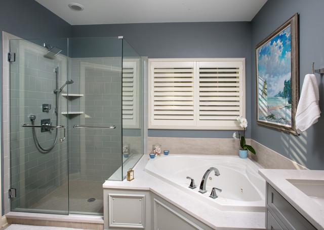 Updated condo master bathroom modern bathroom for Updated master bathrooms
