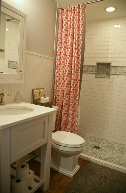 Updated lake condo farmhouse bathroom for Bathroom remodel milwaukee