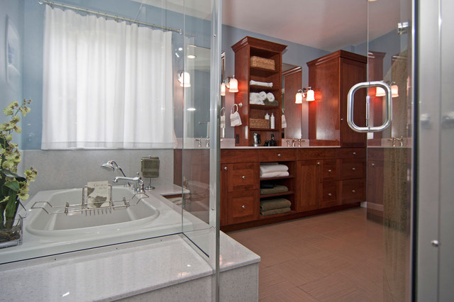 Updated Master Bath contemporary-bathroom