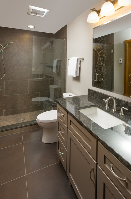 Updated midwest home modern bathroom columbus by for Midwest kitchen and bath